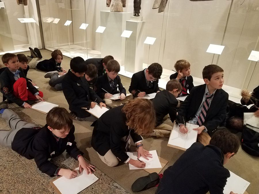 20180124 Grade 2 Faces and Masks Tour at Met